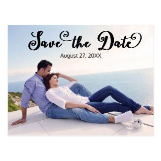 Simple Photo Elegant Script - Horizontal Save/Date Postcard
