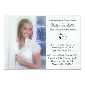 Simple Photo Graduation Announcement/ Invitation