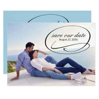 Simple Photo Swashes - 3x5  Save the Date Card