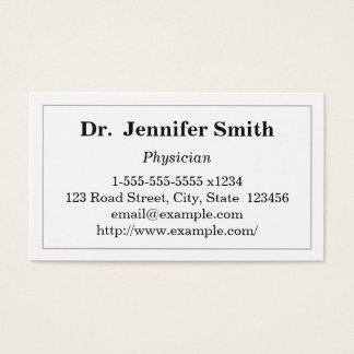 Simple Physician Business Card