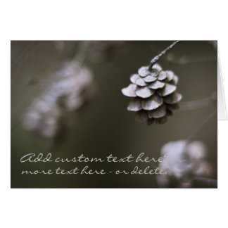 Simple pine cone nature photography closeup card