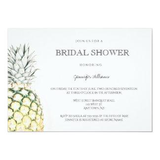 Simple pineapple bridal shower invitations