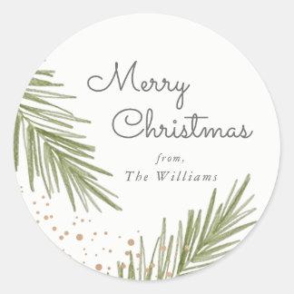 Simple Pines Christmas Sticker