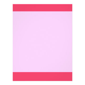 Simple pink border full color flyer