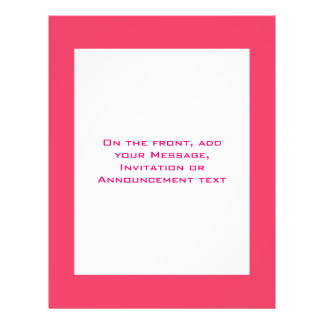 Simple pink border personalized flyer