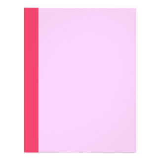 Simple pink border full colour flyer