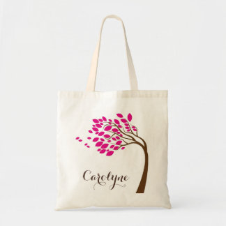 Simple Pink Cherry Blossom Personalized Bag