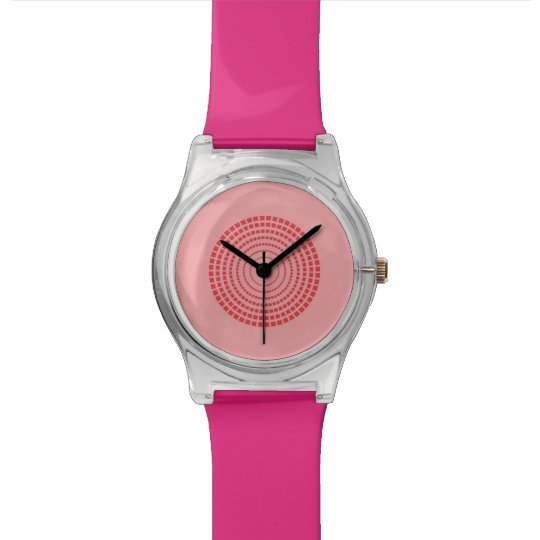Simple pink circle watch