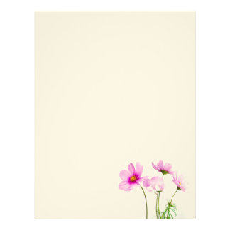 Simple Pink Flowers Letterhead