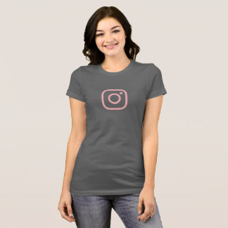 Simple Pink Instagram Icon Shirt