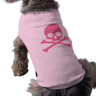 SImple Pink Skull and Crossbones Shirt
