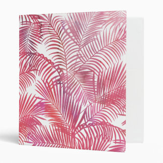Simple pink watercolor modern tropical palm tree 3 ring binder