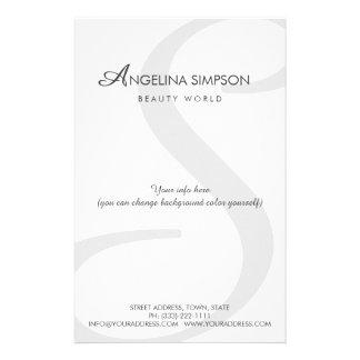 Simple Plain Beauty World Monogrammed Price List Full Color Flyer
