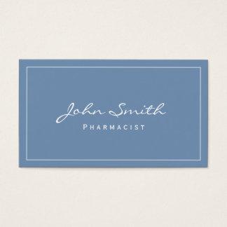Simple Plain Blue Pharmacist Business Card
