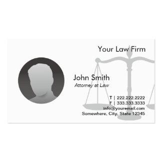 Simple Plain Custom Photo Lawyer Business Cards
