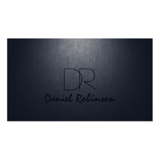 Simple Plain Dark Blue Custom Monogram Card Double-Sided Standard Business Cards (Pack Of 100)