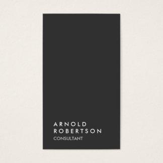 Simple Plain Gray Trendy Consultant Minimalist Business Card
