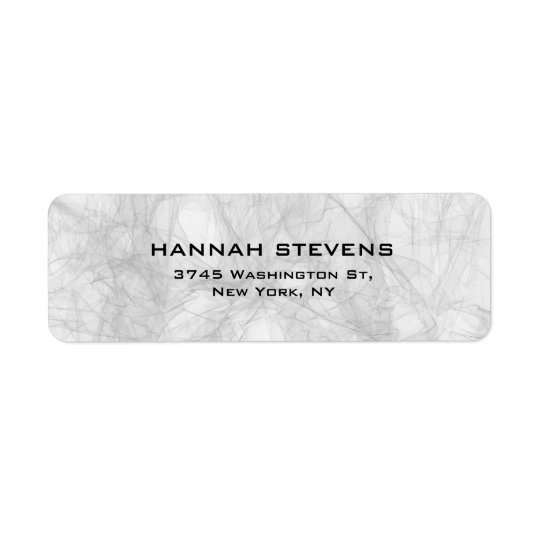 Simple Plain Grey Elegant Modern Return Address Label