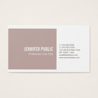 Simple Plain Harmonic Colors Modern Professional Business Card