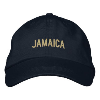 Simple Plain Jamaica Word Custom Color Embroidered Hat