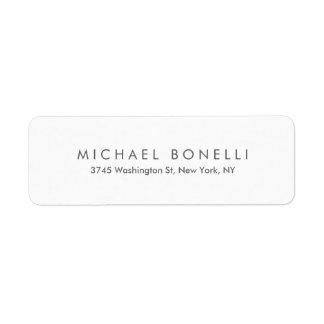 Simple Plain Legible Return Address Label
