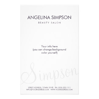 Simple Plain Minimalistic Beauty Salon Price List Flyer