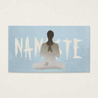 Simple Plain Mint Blue Mediation & Yoga Business Card