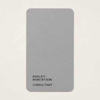 Simple Plain Premium Grey Trendy Modern Minimalist Business Card