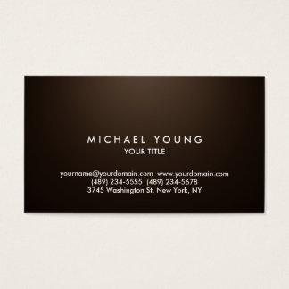 Simple Plain Sepia Professional Unique Business Card