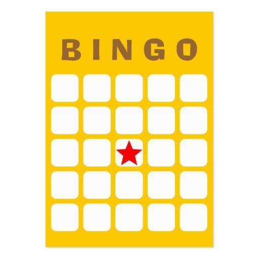 Simple Plain Yellow 5x5 DIY Bingo Card Business Cards