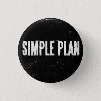 Simple Plan 1 Inch Round Button