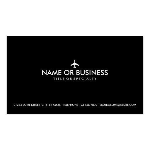 simple plane business cards