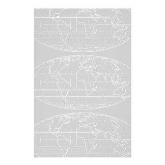 simple planisphere / maps stationery