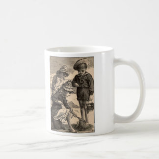 Simple Pleasures Woodcut Children At Beach Classic White Coffee Mug