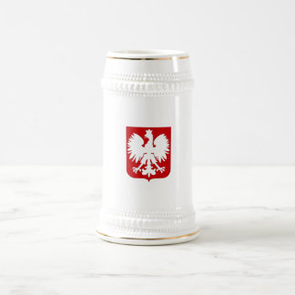 Simple Polish eagle Stein 18 Oz Beer Stein