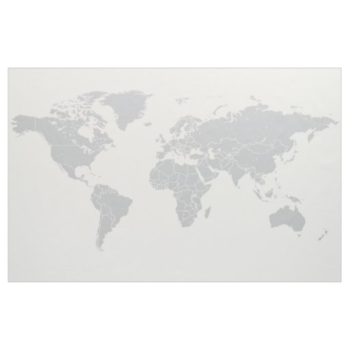 Simple Political World Map Fabric Wall Hanging
