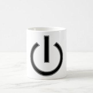 Simple Power Icon Mug Black and White