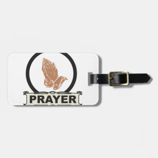 Simple prayer luggage tag