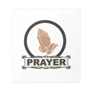 Simple prayer notepad