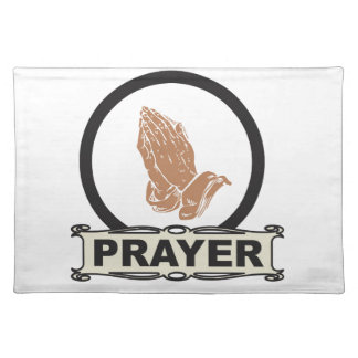 Simple prayer placemat