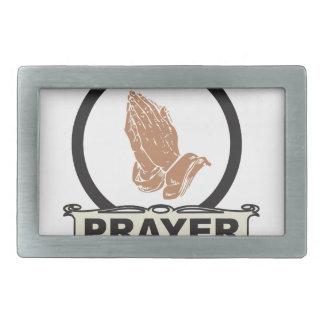 Simple prayer rectangular belt buckle
