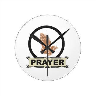 Simple prayer round clock