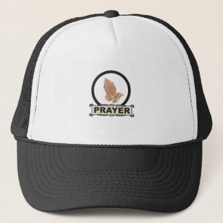 Simple prayer trucker hat