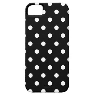 Simple Pretty Chic Polka Dots on Solid Black Case For The iPhone 5
