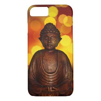 Simple Pretty Photo Meditating Wooden Buddha iPhone 7 Case