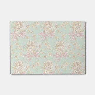 Simple Pretty Rose Print Floral Sticky Notes