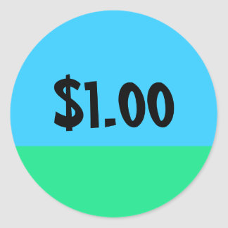 Simple Price Tag Sticker - $10 Donation Edition Round Sticker