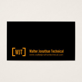 Simple professional black orange business cards