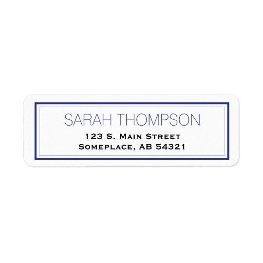 Simple Professional Blue Stripe Border Labels