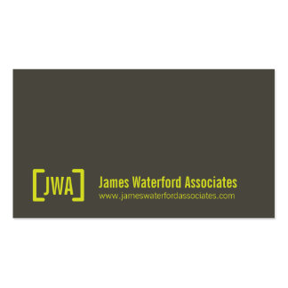 Simple professional grey & lime business cards